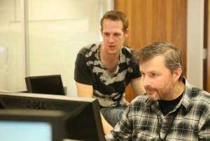 Andrew & David - Hard at Work